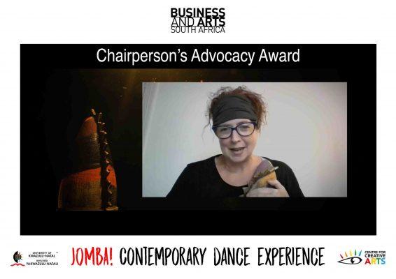 Chairmans Advocacy Award Winner - JOMBA! Dr Lliane Loots